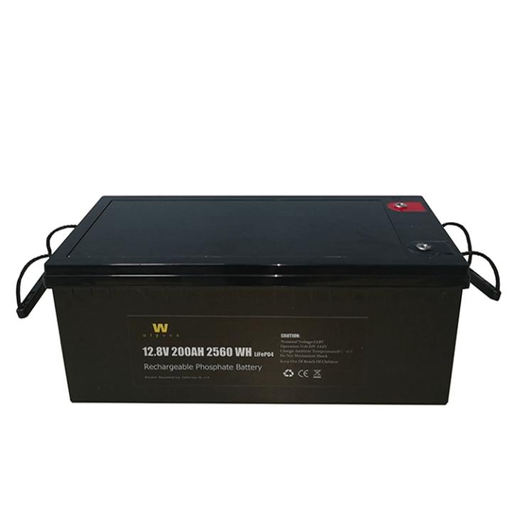 200Ah LFP 12V כוח עמוק מחזור נטענת ליתיום Li יון BMS אחסון Lifepo4 12v 200Ah שמש סוללה