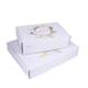 FSC Rigid Support White Corrug Mailer Shipping Box Custom Printed