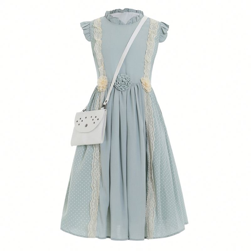 New <strong>Design</strong> <strong>Girls</strong> long summer dresses For Pretty Little Big <strong>Girl</strong> With Handbag