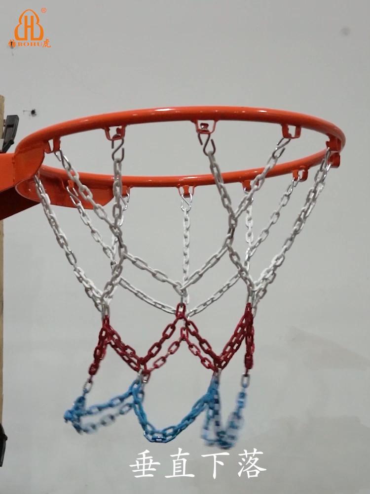 BOHU Баскетбольные Сетки из легированной стали оцинкованная баскетбольная стальная сетка с порошковым покрытием баскетбольная сетка