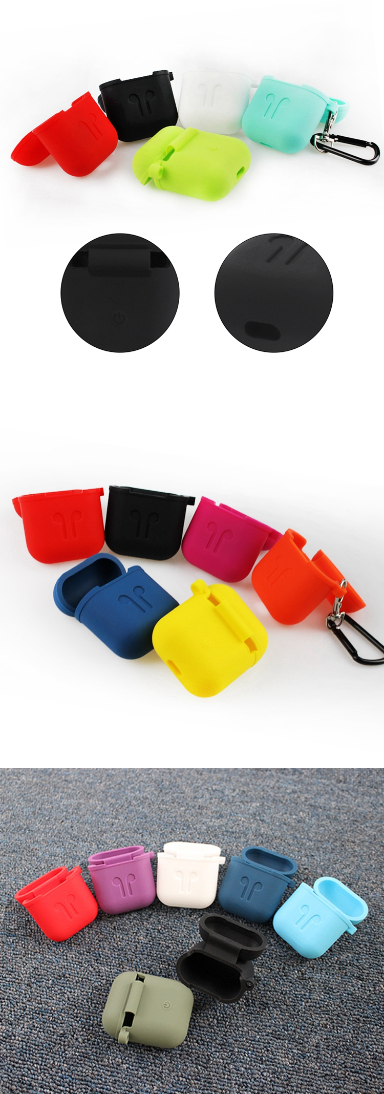 Wholesale shockproof rubber cover good quality 3mm thickness silicone case for airpods