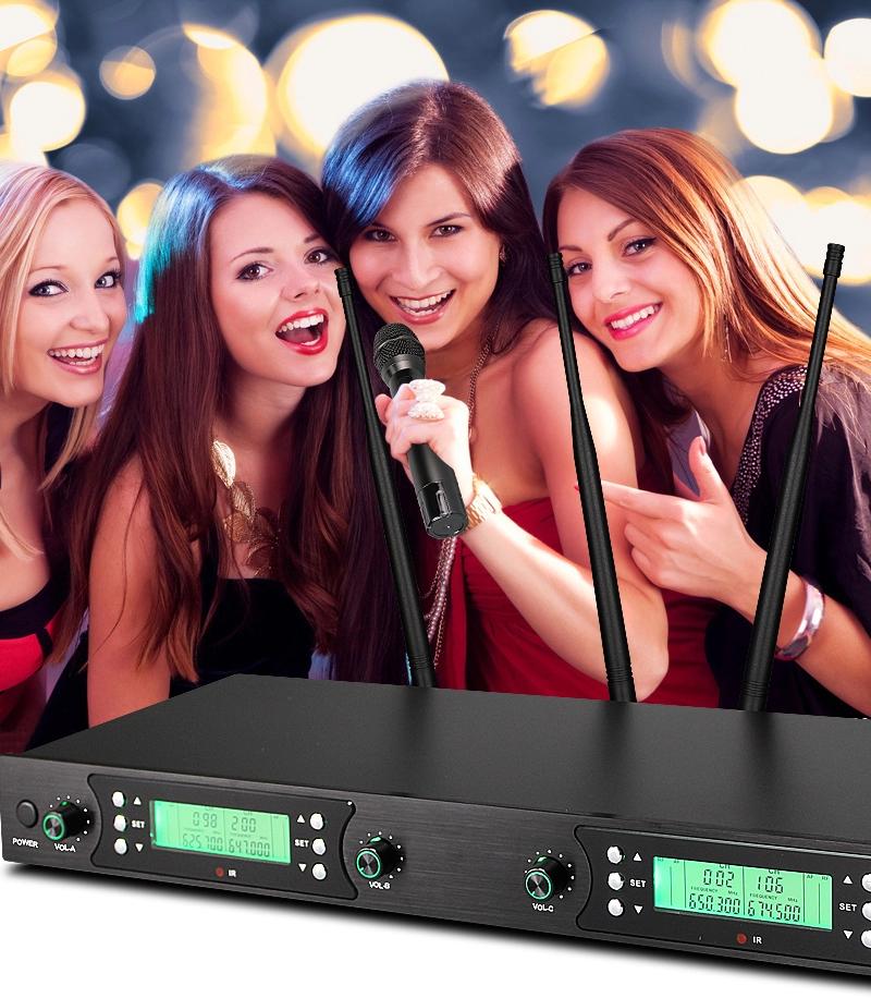 Promosi Karaoke Mikrofon Nirkabel Mikrofon Karaoke untuk Bernyanyi Gigi Biru Mikrofon Karaoke