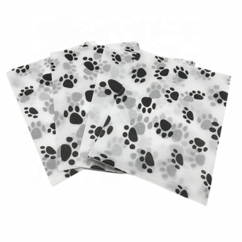 Wholesale New Design Customized Branded Dog Paw Pattern Gift Wrap Tissue Paper