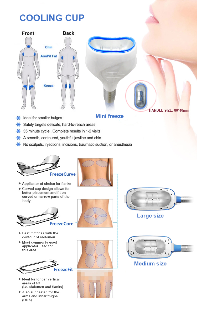 Multifunctional Coolsculpting Fat Freezing Machine Cryotherapy Body Slimming And Shaping Skin Tightening Cryo Slimming Machine
