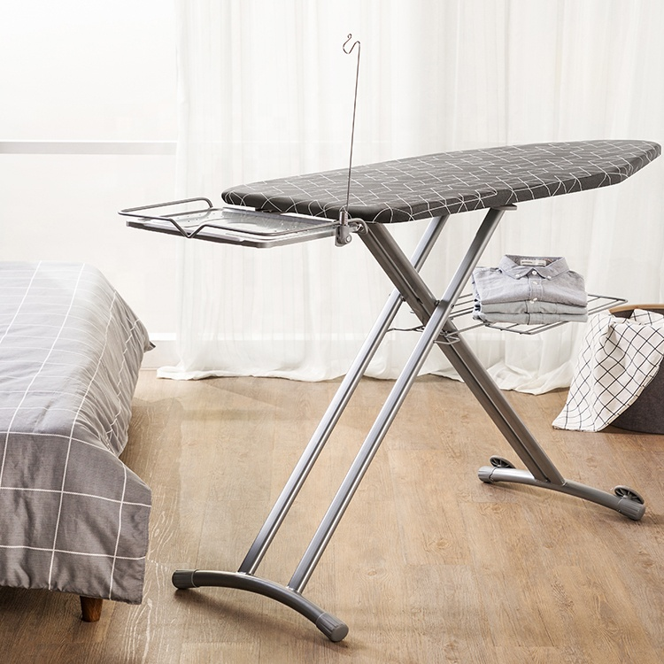 Large iron boards with steam iron storage tray mainstays HTZ leg ironing board with iron rest