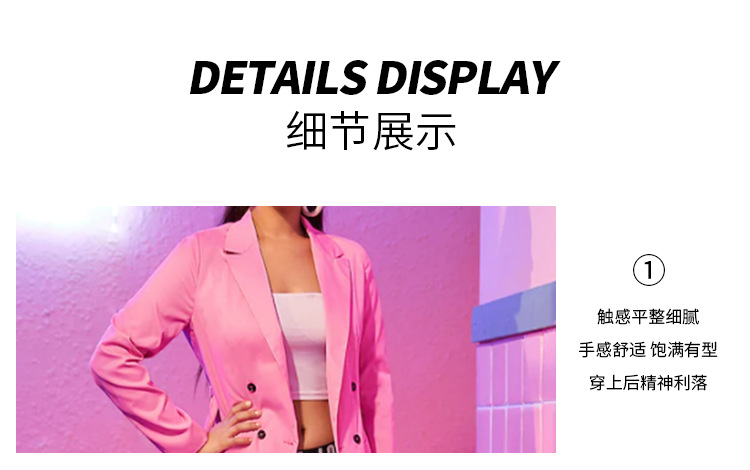 New Slim Women's Small Suit Long Sleeve Jacket in Europe and America in 2019