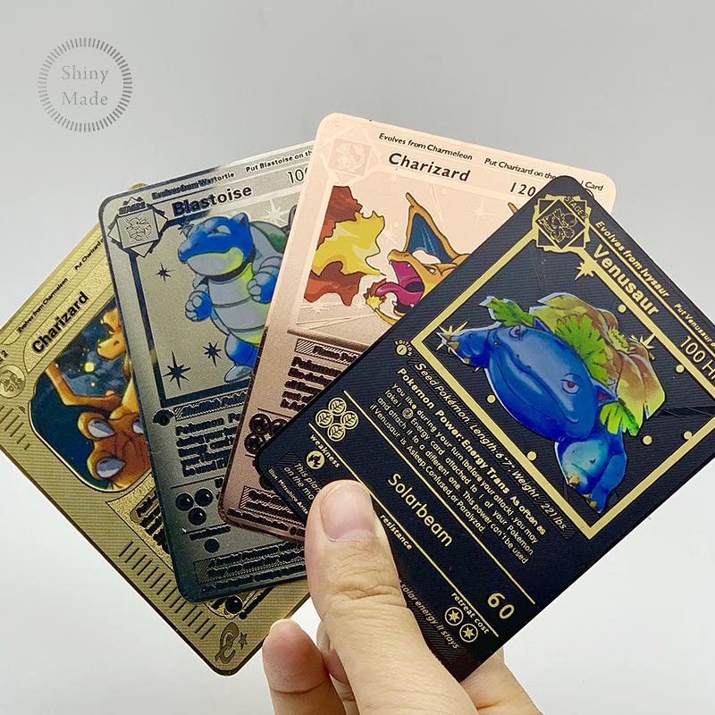 2020 последняя английская версия Металлические Карты Покемон! Pokemon MEGA EX карточная игра