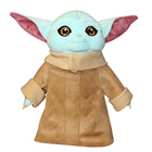 Doll Dropship 27cm Blue Baby Yoda Plush Toys Soft Stuffed Animal Doll Yoda For Kids Birthday Gift To Dropship