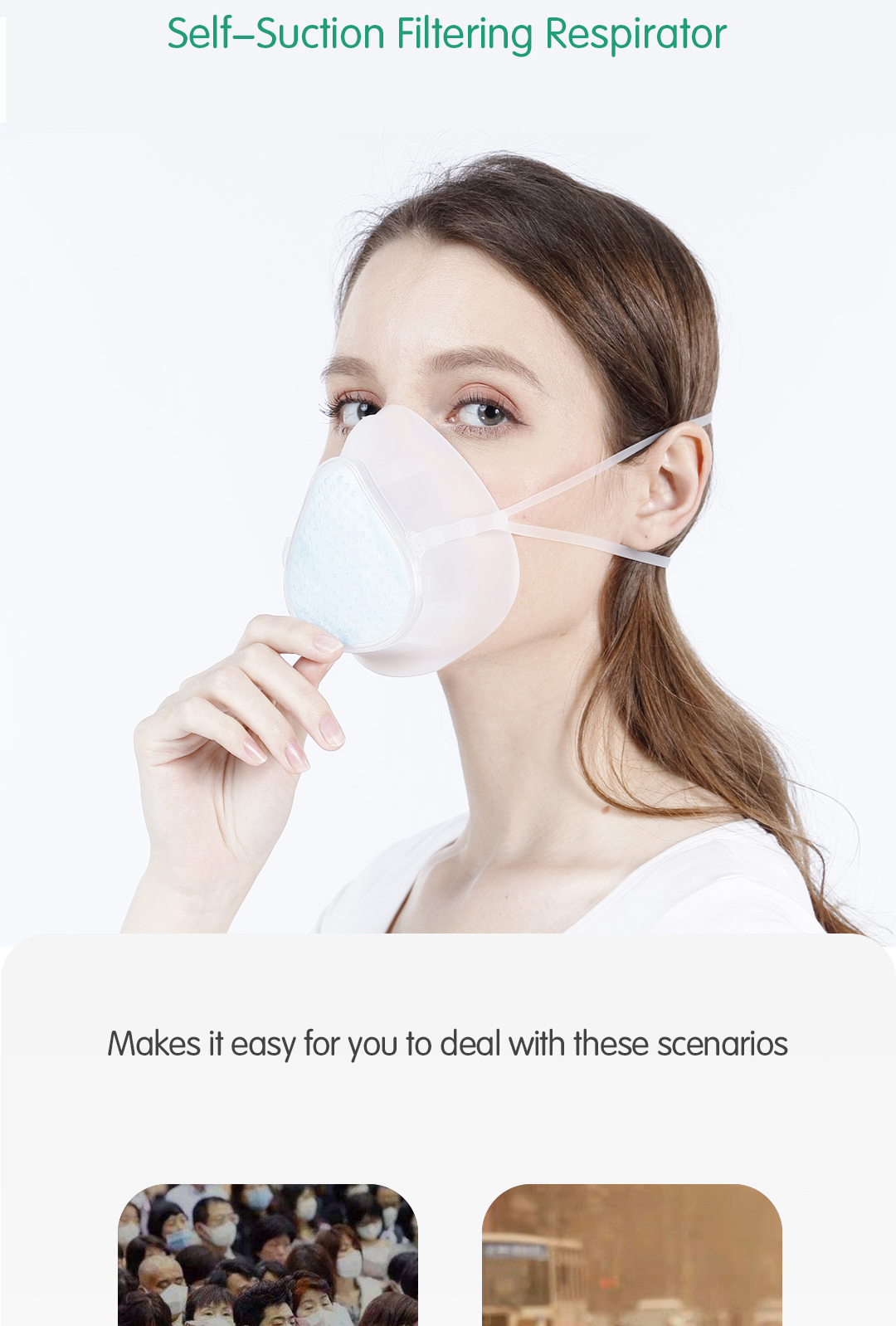 Replaceable Silicone Mask Filter Cotton Pads KingCare S9 Self-suction Filtering Respirator N95 Filter Anti-fog Face Mask - KingCare | KingCare.net