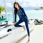 2020 Asia Japan and South Korea New Women's Swimsuit Wetsuit Long Sleeve Pants Siamese Beach Muslim Swimming Wear