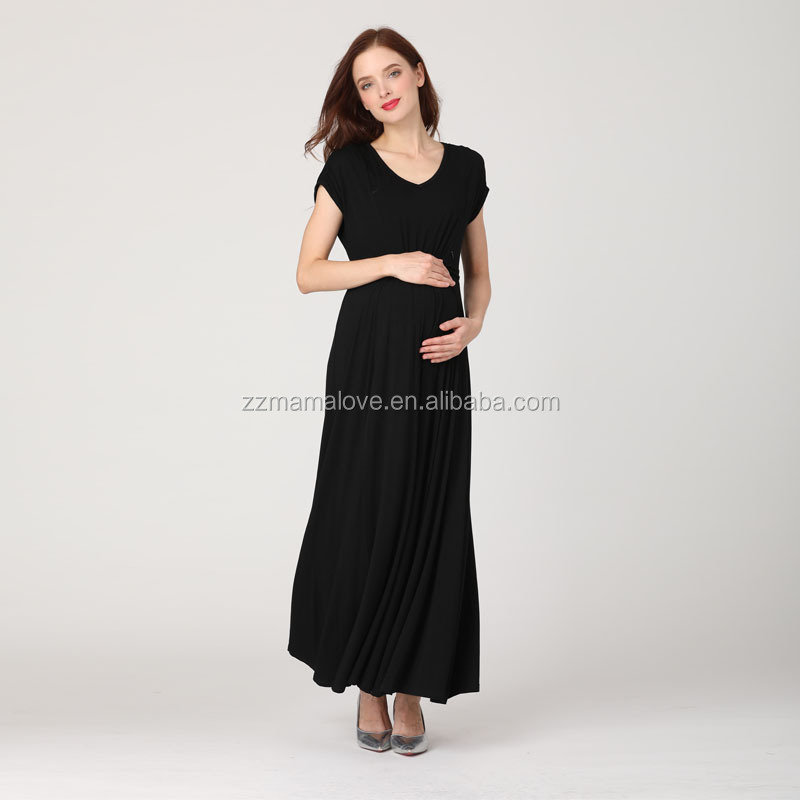 Customs Brand Maternity Maxi Dress Invisible Breastfeeding Dress Pregnant Evening Dress