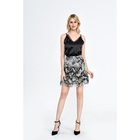 100% silk lady clothing high waist snake skin button mini skirt for women