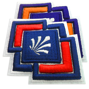 Embroidery patch 3d sew on embroidered patches custom 3d embroidery patch logo