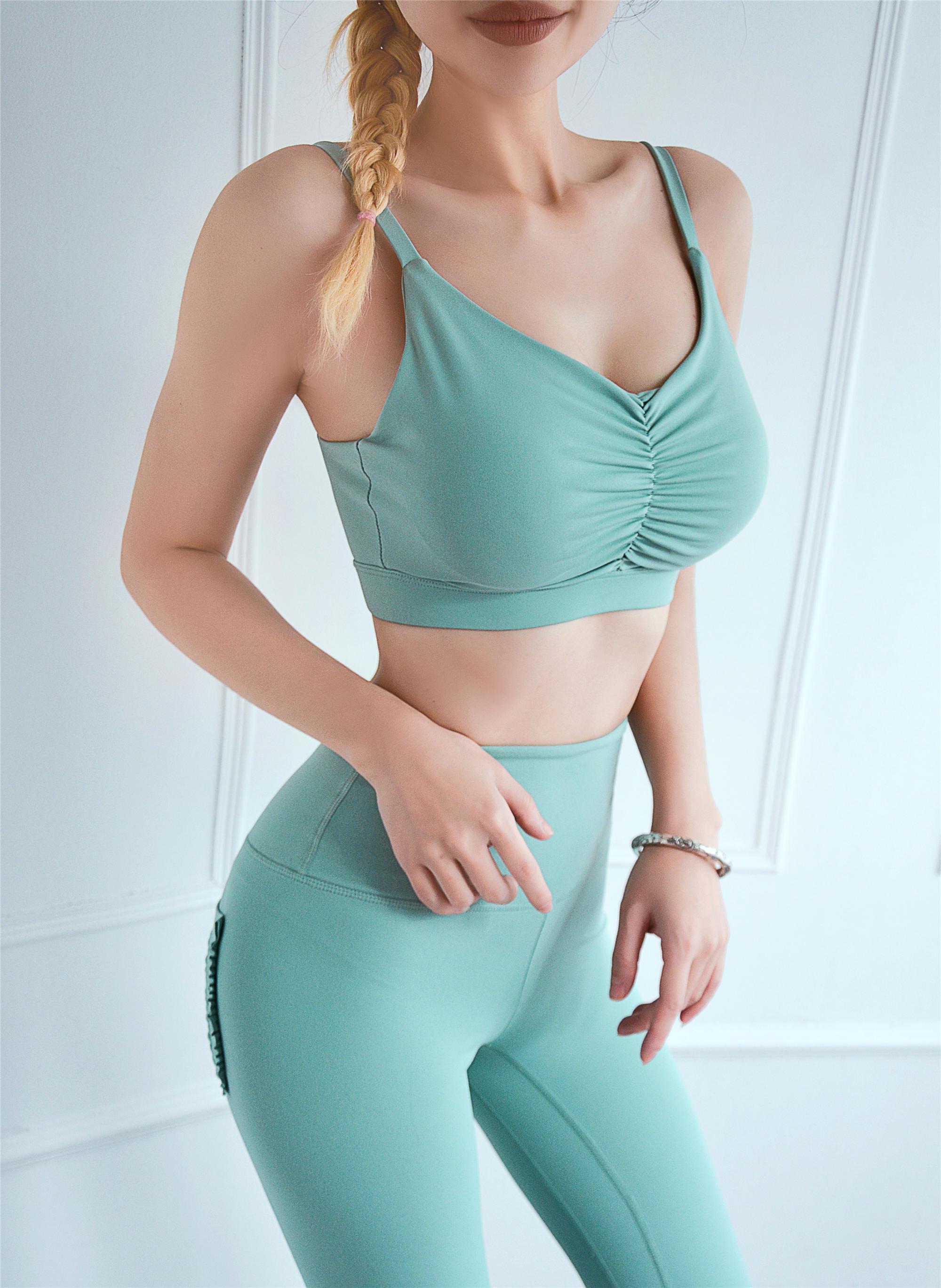 Latest Women Yoga Top Drapery Sportswear Quick-dry Running Sports Bra