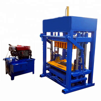 High quality QT 4-30 semi automatic block and brick making machine