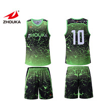 Sublimatie Heren Basketbal Shorts Jersey Custom Green Basketbal Uniformen