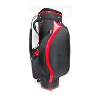 7 Dividers Black and Red Polyester Golf Bag,Golf Cart Bag,
