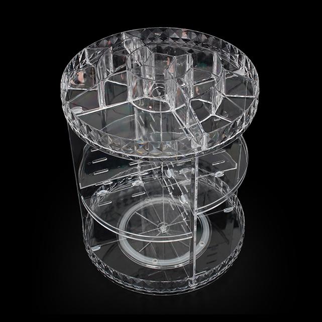 Hoge Kwaliteit 360 Graden Roterende PS Plastic Make Organizer Cosmetische Opbergdoos