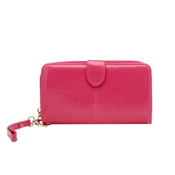 Factory wholesale  PU Long Wallet Ladies Card Holder Woman Wrist Wallets clutch bag ZJ467
