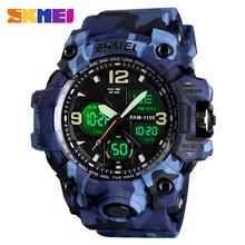 SKMEI японские цифровые часы для мужчин, цифровые часы с 2 часами, 5 бар водонепроницаемые военные ковбойские мужские спортивные часы 1155B 15 цвет...(Китай)