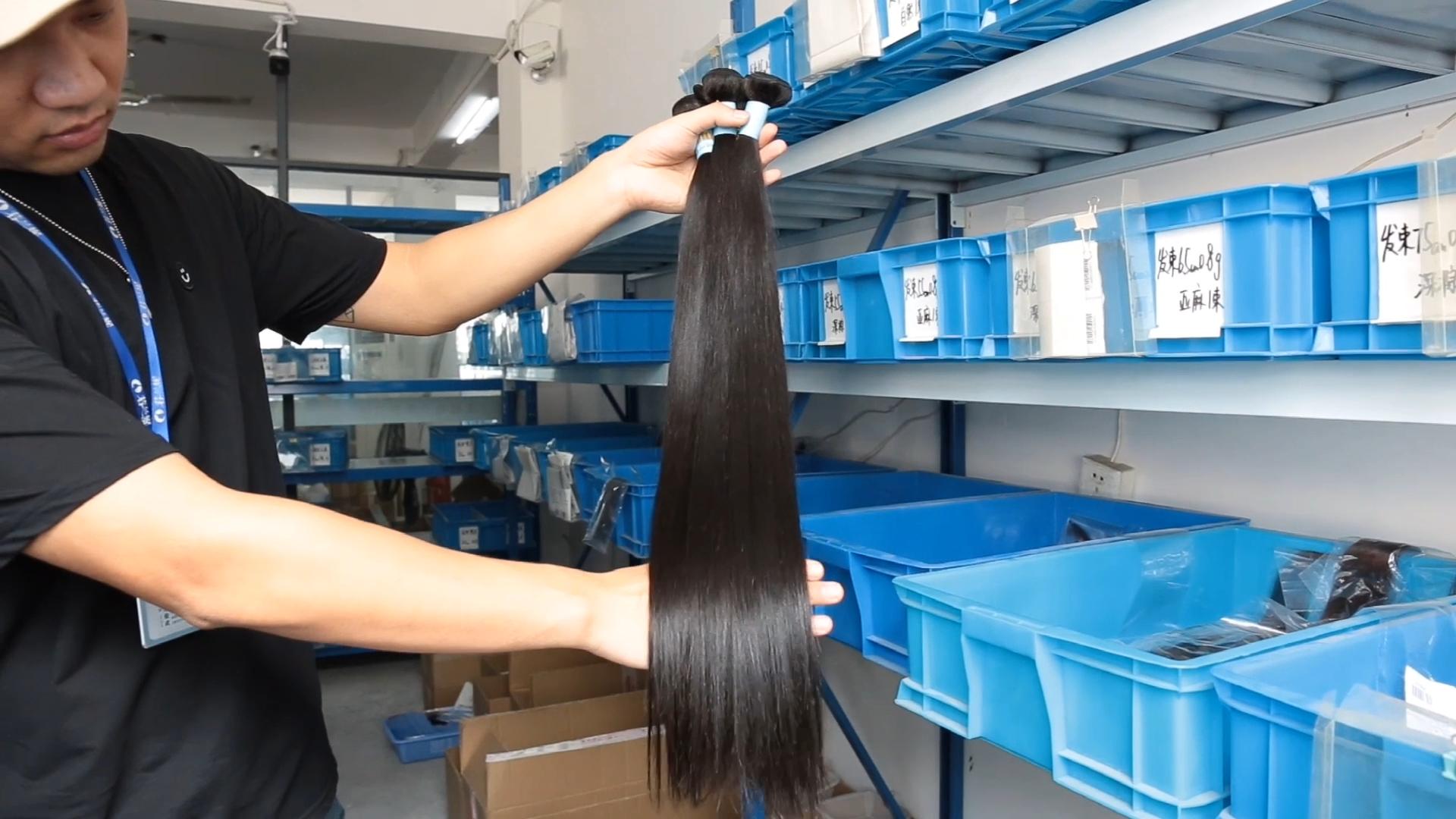 En gros RLN Meilleur Cheveux Vendeur Vierge Péruvienne Remy Cheveux Armure Droite Trame 100 Vraies Extensions De Cheveux Humains