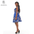 ZH089 African Ankara Design Fashion Blue Print Dress Batik Fabric African Women Clothing Factory Online  Support Sample