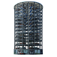 Fully automated vertical moving vehicle parking area system for public parking area