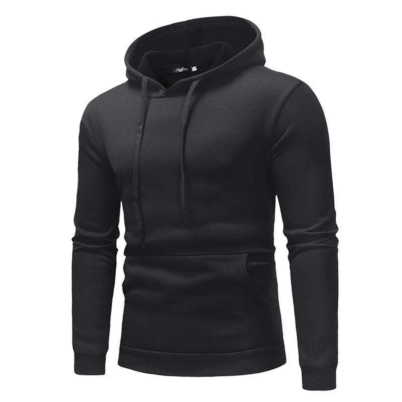 2019 New Autumn Winter Men Polo Sweater Shirt OEM Custom Logo Hoodies With Pocket 5