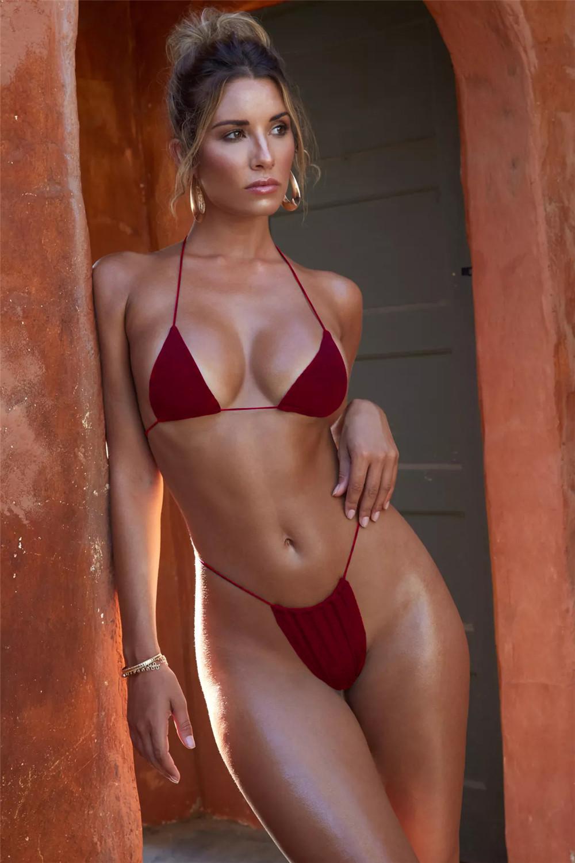 Mujer Sexy Trajes De Baño De Mujeres Traje De Baño Las Mujeres Amarillo Bikini Caliente G Cadena Mujeres Traje De Baño Las Mujeres Ropa Mujer 2019 Conjunto De Bikini Aliexpress