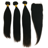 Mink Malaysian Human 613 Color Straight Hair Extens, Cuticle Aligned Raw Weft Hair With Lace Closure Custom Hairline