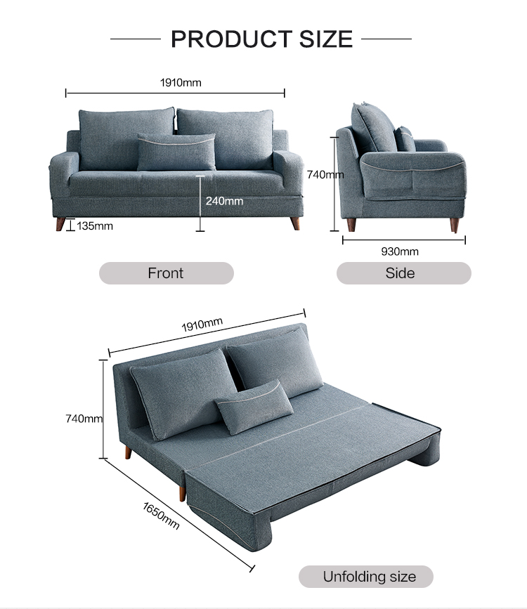102518 Chinese liftable home furniture living room fabric sofas, sectionals set