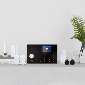 Free shipping Mini Tuya WiFi GSM wireless smart alarm home security system