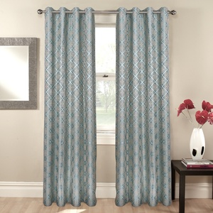 "European style curtain 102""Curtain for the living room luxury and drapes fancy jacquard printed blackout window curtains"
