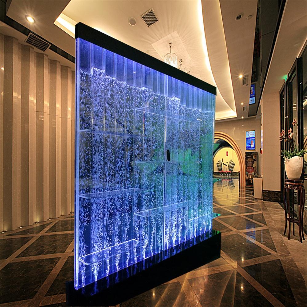 Bar lounge decor bubble wall design modern led commercial bar cabinet