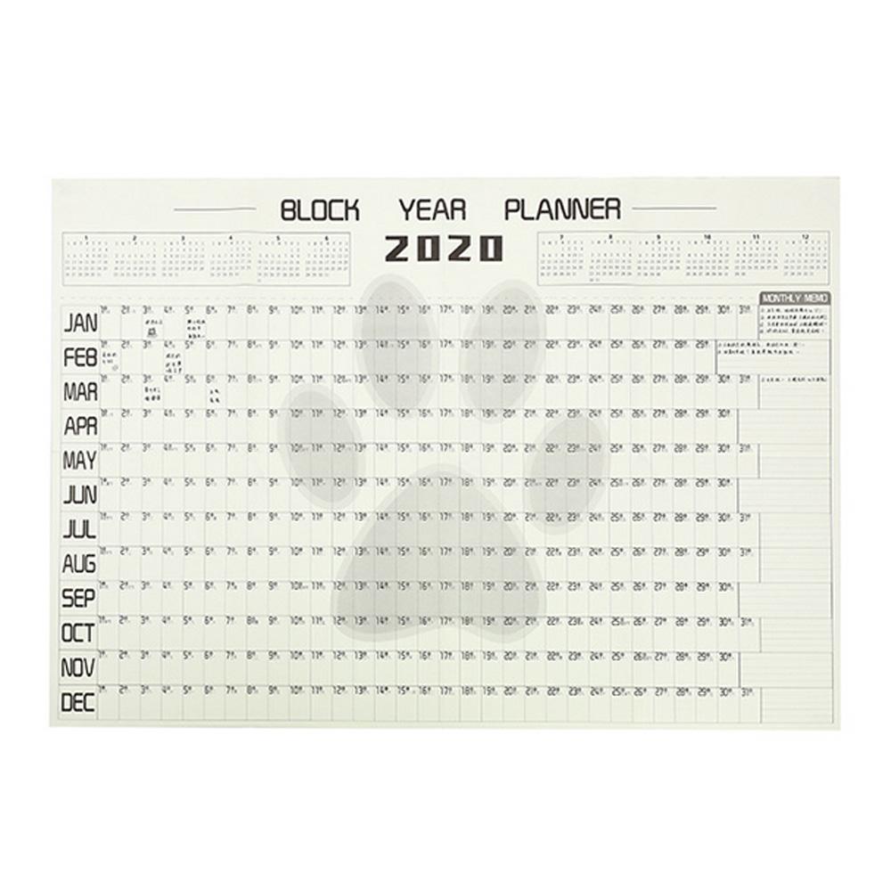 Планировщик на Стену Большой 2020 блок ГОД ПЛАНИРОВЩИК ежедневный план бумажный календарь плакат для офиса школы товары для дома(Китай)
