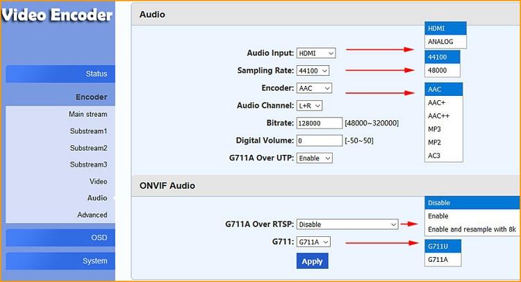 URay H.264 VGA HD WIFI Video Encoder for IPTV, Live Stream Broadcast