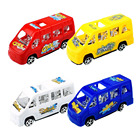 Car Toys Car Toy For Car LGW084 Mini Diecast Promotional Plastic Pull Back School Bus Car Toys For Children's Learning