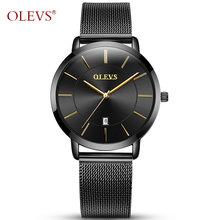OLEVS женские часы розовое золото 2020 брендовые роскошные часы для влюбленных Пара наручные часы для женщин японский механизм новый(China)
