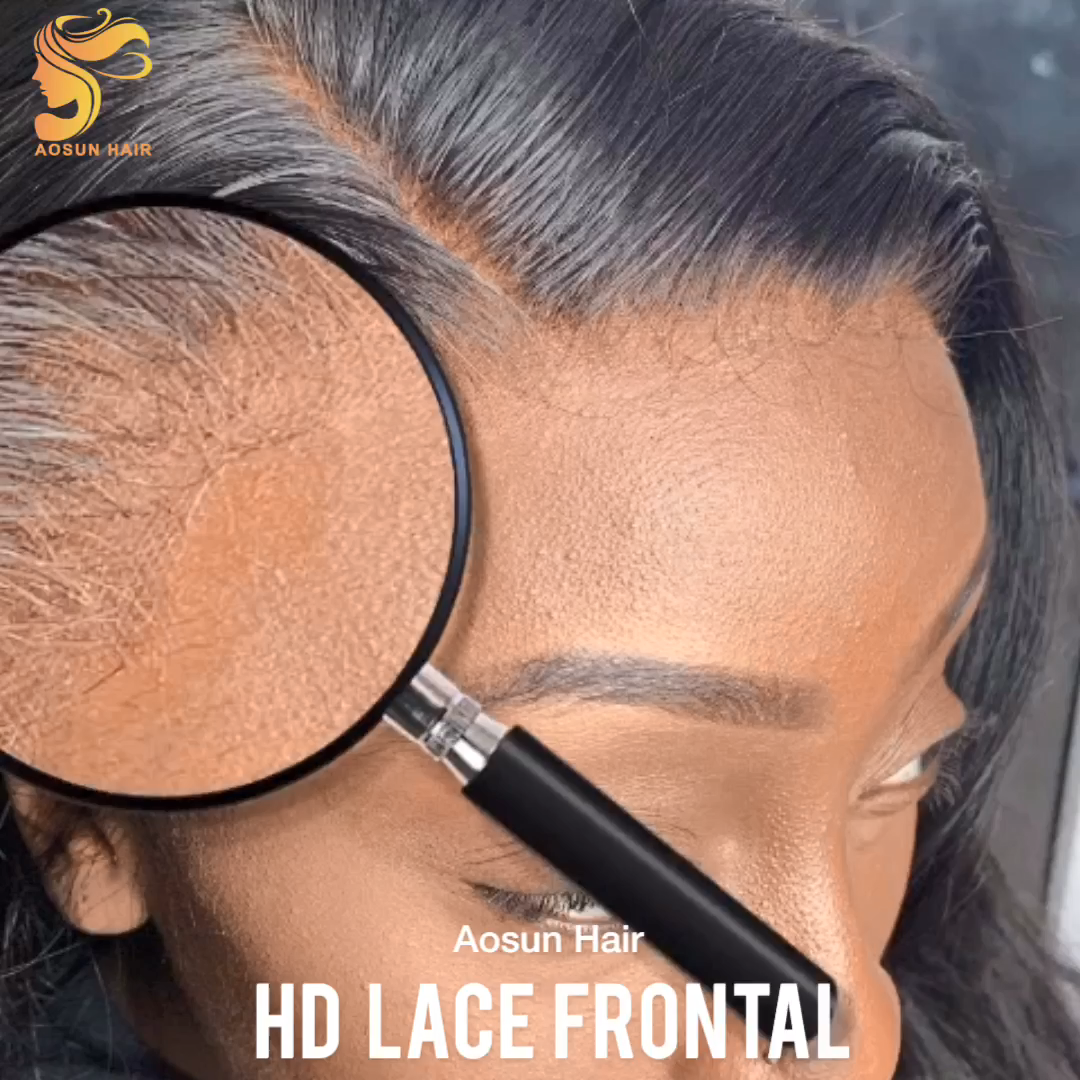 Super Thin 13x6 Transparent Lace Frontal, Firm Thin HD Lace Closure, Undectable Cuticle Aligned HD Lace Frontal