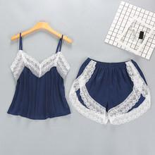 MENORE женские пижамы 5 шт. наборы шелковых атласных однотонных пижамных комплектов, сексуальные пижамы с кружевом, ночные костюмы, одежда для ...(Китай)