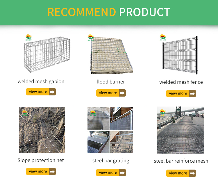 Factory direct sale galvanized gabion box price gabion mesh box stone cage