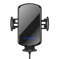15W Fast Charging Smart Sensor Automatic Mobile Phone Mount Wireless Car Charger With Perfume and Voice Broadcast