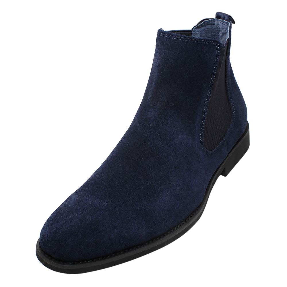 Italian stylish men boots ankle boots premium suede leather chelsea boots