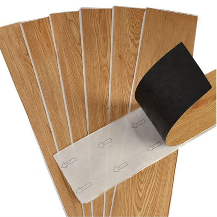Cheapest 1.6mm Self-adhesive hybrid vinyl flooring fireproof waterproof anti slip plastic flooring