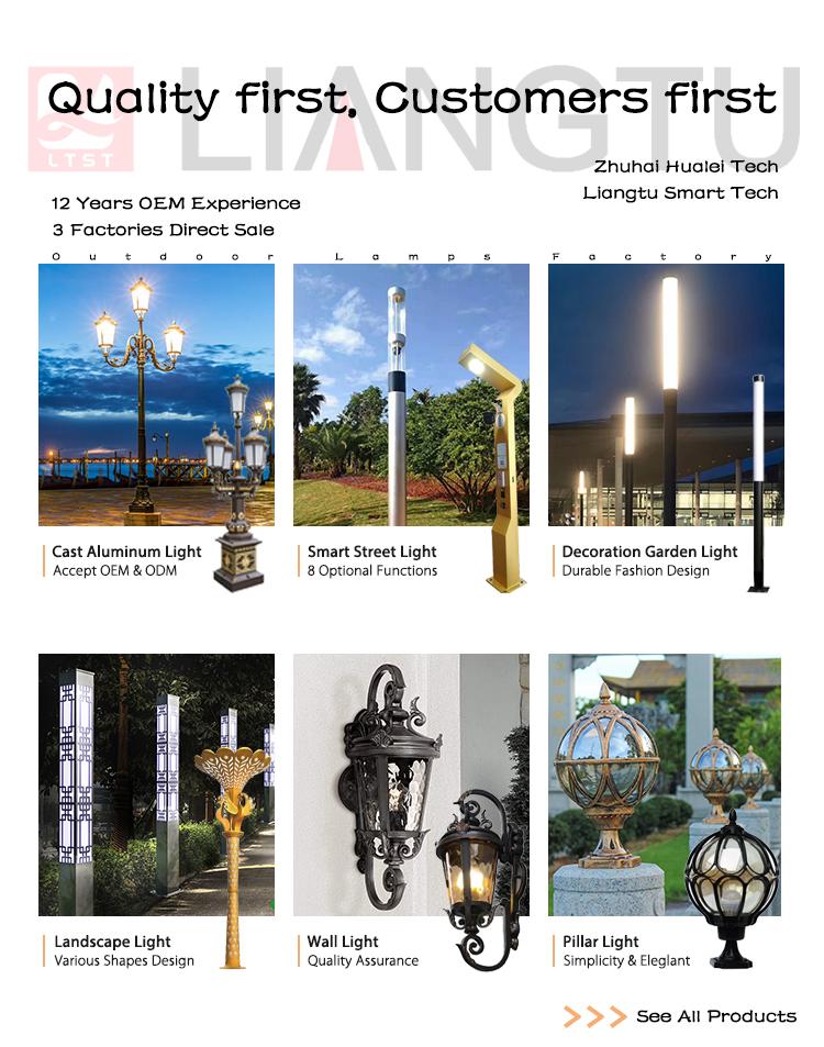 3m European Style Cast Aluminum Vintage France Lamp post For Sale