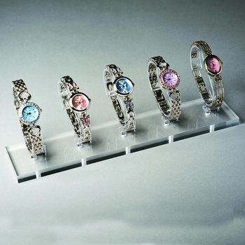 Multiple Transparent 5 Watch Display Stand Acrylic Stands 5 Watches for Display in Window Or Cabinet