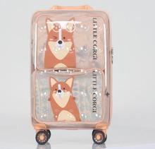 Ginza Reise mode spinner gepäck transparent kinder koffer