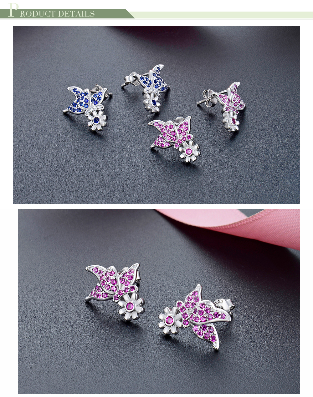 F.ZENI wholesale vintage earrings women stud earrings 925 silver sterling for women