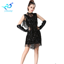 Brillant <span class=keywords><strong>Danse</strong></span> Latine Robe Métallique Bal Cocktail Robes De Soirée Paillettes Gland Costume Jive/Salsa/Jazz <span class=keywords><strong>Danse</strong></span>