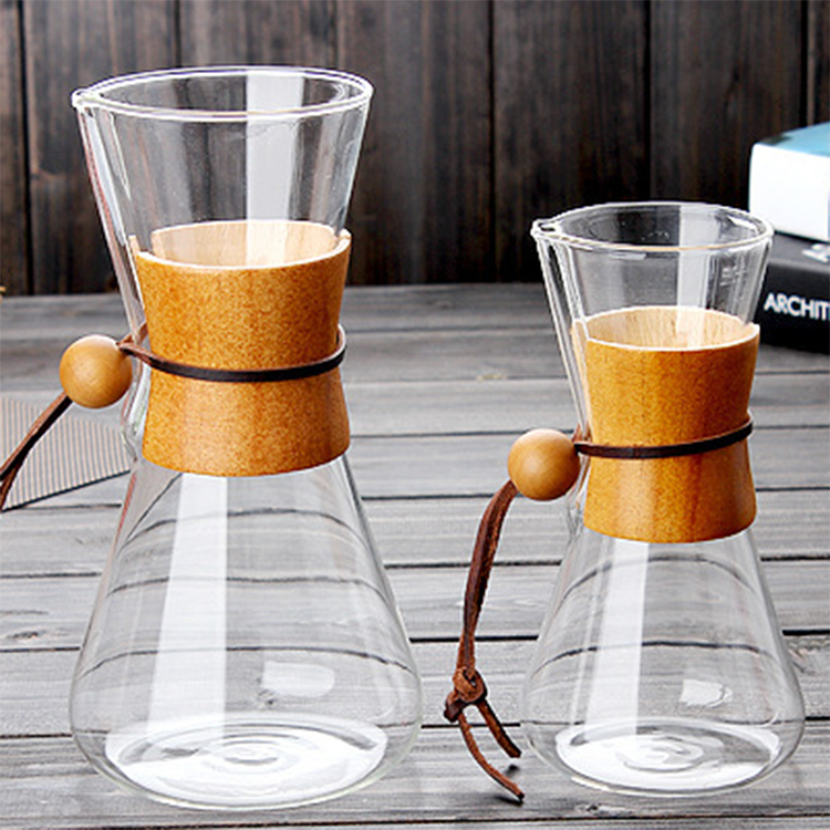 Borosilicate Glass coffee Pour Over Glass Coffee Maker Sharing Coffee Pot